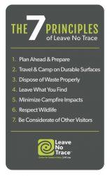 7 principles of LNT